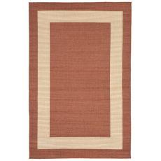 """Liora Manne Terrace Border Indoor/Outdoor Rug - Rust, 4'10"""" by 7'6"""""""