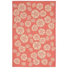 "Liora Manne Terrace Shell Toss Indoor/Outdoor Rug - Orange, 4'10"" by 7'6"""