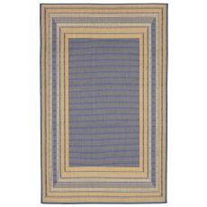 "Liora Manne Terrace Etched Bdr Indoor/Outdoor Rug - Blue, 39"" by 59"""
