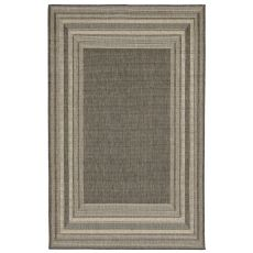 "Liora Manne Terrace Etched Bdr Indoor/Outdoor Rug - Grey, 23"" by 7'6"""