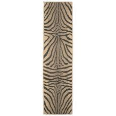 """Liora Manne Terrace Zebra Indoor/Outdoor Rug - Grey, 23"""" By 7'6"""""""