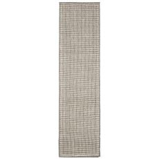 """Liora Manne Terrace Texture Indoor/Outdoor Rug - Silver, 23"""" By 7'6"""""""