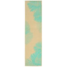 "Liora Manne Terrace Palm Indoor/Outdoor Rug - Natural, 23"" by 7'6"""