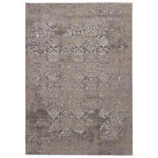 Modern Vintage Look Pattern Gray/Silver Polypropylene Area Rug ( 9X12)