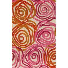 "Liora Manne Tivoli Rambling Rose Indoor Rug - Pink, 42"" By 66"""