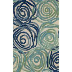 "Liora Manne Tivoli Rambling Rose Indoor Rug - Blue, 42"" By 66"""