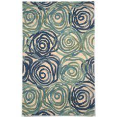 Liora Manne Tivoli Rambling Rose Indoor Rug - Blue, 5' By 8'