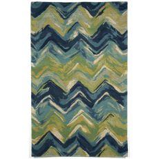 Liora Manne Tivoli Chevron Indoor Rug - Blue, 8' By 10'