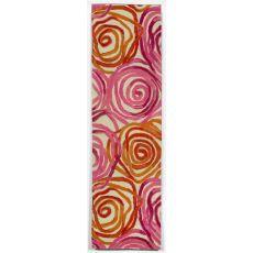 "Liora Manne Tivoli Rambling Rose Indoor Rug - Pink, 27"" By 8'"