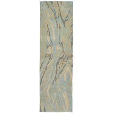"Liora Manne Tivoli Marble Indoor Rug - Blue, 27"" By 8'"