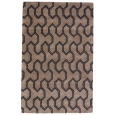 Tribal Pattern Wool Town Area Rug
