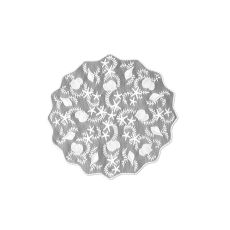 "Tidepool 42"" Round Table Topper, White"