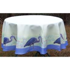 Blue Heron Round Table Cloth