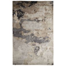 Contemporary Abstract Pattern Taupe/Gray Art Silk Area Rug (9X12)