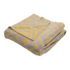 """Yellow/Gold Cotton Throw (50""""X60"""")"""