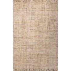 Flatweave Solid Pattern Yellow/Gray Wool Area Rug (8X10)
