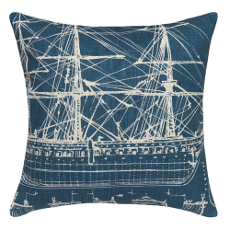 Tall Ship Linen Pillow