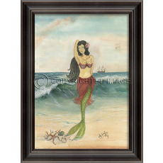 The Star of the Beach Mermaid Framed Art