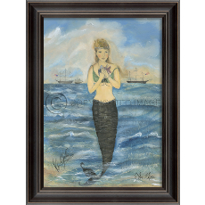 Prudence Island Mermaid Framed Art