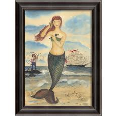 The Call of the Sea Mermaid Framed Art