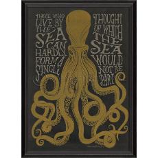 Those Who Live By The Sea - Black- Framed Art