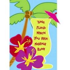Time Flies When You Are Having Rum Garden Size Applique Flag