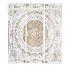 Triptic Wall Décor with Laser Cut Pattern Set of 3