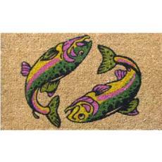 Two Salmon Fish Doormat