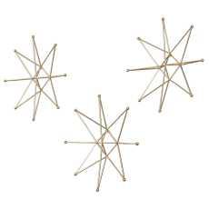 Uttermost Gold Stars Wall Art, S/3