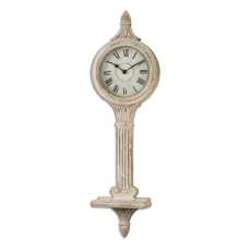 Uttermost Louisa Antiqued Ivory Wall Clocks