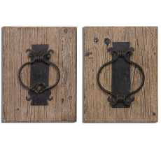 Uttermost Rustic Door Knockers Wall Art S/2