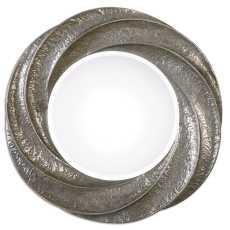 Uttermost Spiraali Round Silver Wall Mirror