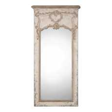 Uttermost Carlazzo Antiqued White Mirror