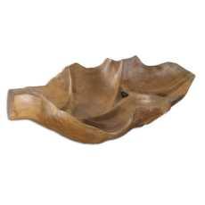 Uttermost Teak Leaf Bowl