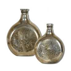 Uttermost Euryl Mercury Glass Vases S/2
