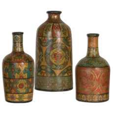 Uttermost Sachi Terracotta Vases S/3