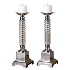 Uttermost Ardex Mercury Glass Candleholders S/2
