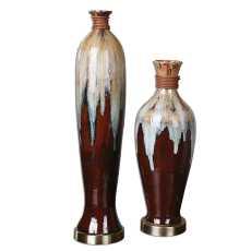 Uttermost Aegis Ceramic Vases S/2