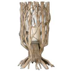 Uttermost Ugo Natural Wood Candleholder