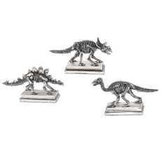 Uttermost Jurassic Silver Figures, S/3