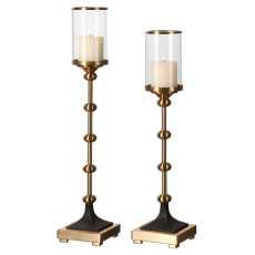 Uttermost Santona Brass Candleholders, S/2
