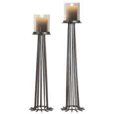 Uttermost Bardo Aged Iron Candleholders S/2