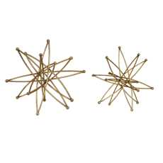 Uttermost Constanza Gold Atom Accessories, S/2