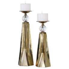 Uttermost Carlino Bronze Candleholders, S/2