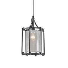 Uttermost Generosa 1 Light Crackle Glass Lantern