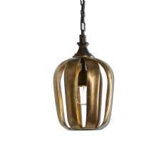 Uttermost Zucca 1 Light Antique Gold Mini Pendant