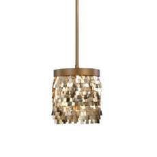 Uttermost Tillie 1 Light Gold Mini Pendant