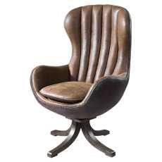 Uttermost Garrett Mid-Century Swivel Chair