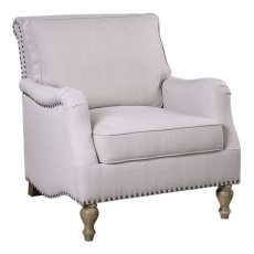 Uttermost Armstead Antique White Armchair