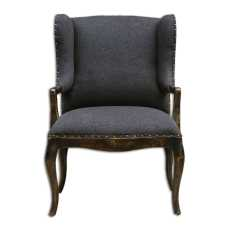 Uttermost Chione Black Armchair